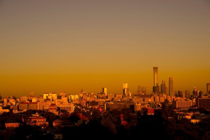 晚霞 – 中国尊 Sunset – China Zun