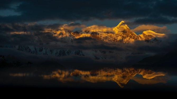 南迦巴瓦峰晚霞 Sunset in Namcha Barwa